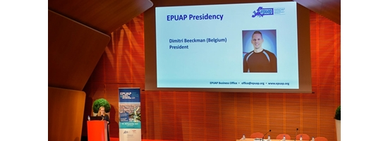 Dimitri Beeckman is introduced as the 12th President of the European Pressure Ulcer Advisory Panel (EPUAP)